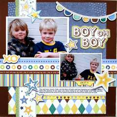 Little Cutie Boy Oh Boy Layout by Cari Locken