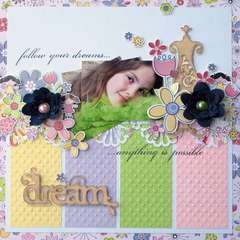 Little Cutie Follow Your Dreams Layout by Melinda Spinks