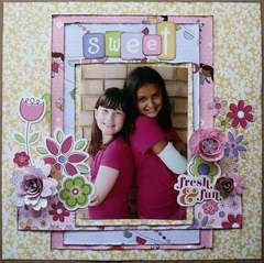 Little Cutie Sweet Girls Layout by Samantha Hauzer