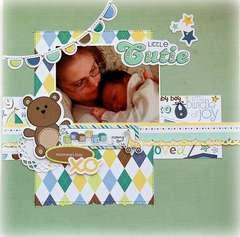 Little Cutie Baby Boy Layout by Michelle Unruh