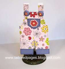 Little Cutie Overall Card by Tracey Taylor