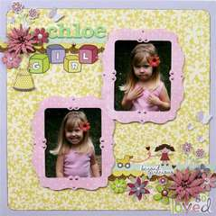 Little Cutie Chloe Girl Layout by Sophia Allison