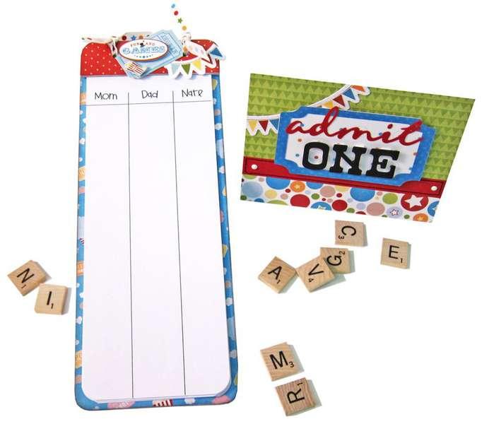"Animal Crackers ""Scoreboard Card"""
