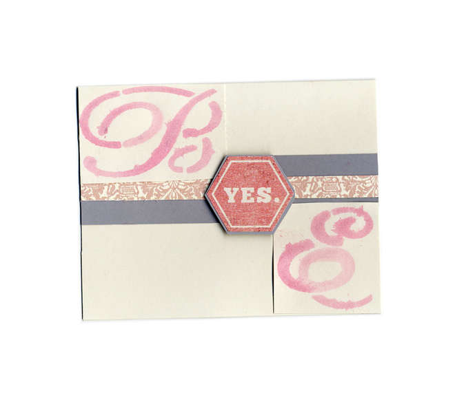 Engagement card using Monograms