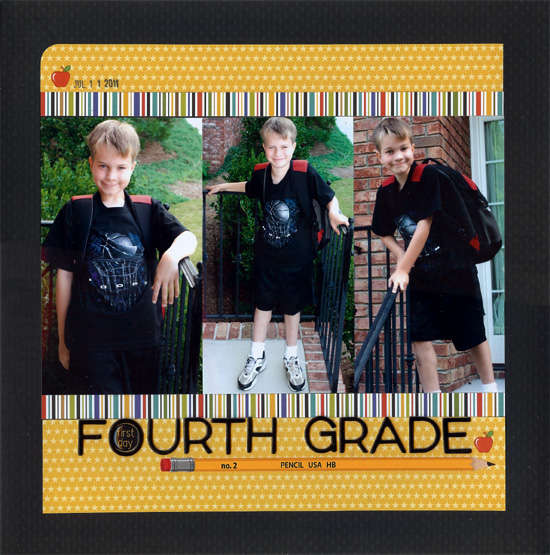 1st Day Fourth Grade