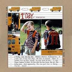 1st Day of Kindergarten (September ST)