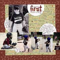 Andrew's first baseball game