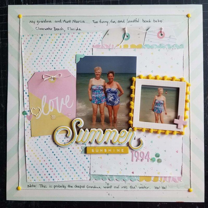 Summer Sunshine 1994   ***Crate Paper Poolside***