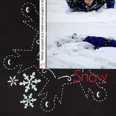 Snow closeup