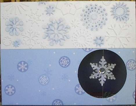 Floating Snowflake Card