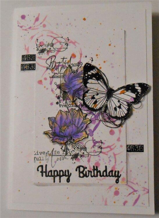 Birthday card to my granddaughter