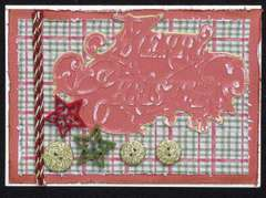 Christmas card using Scrappy Chic cafe kit