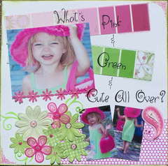 WHAT'S PINK & GREEN & CUTE ALL OVER?