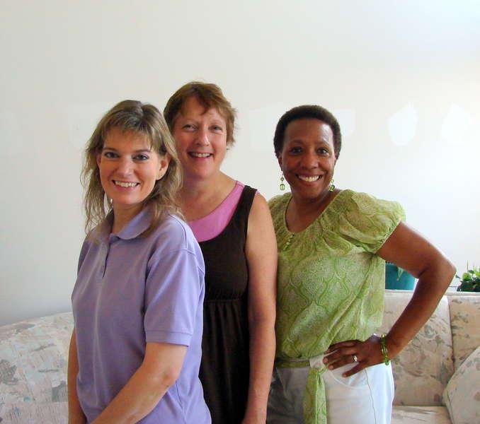 Three happy Shelias