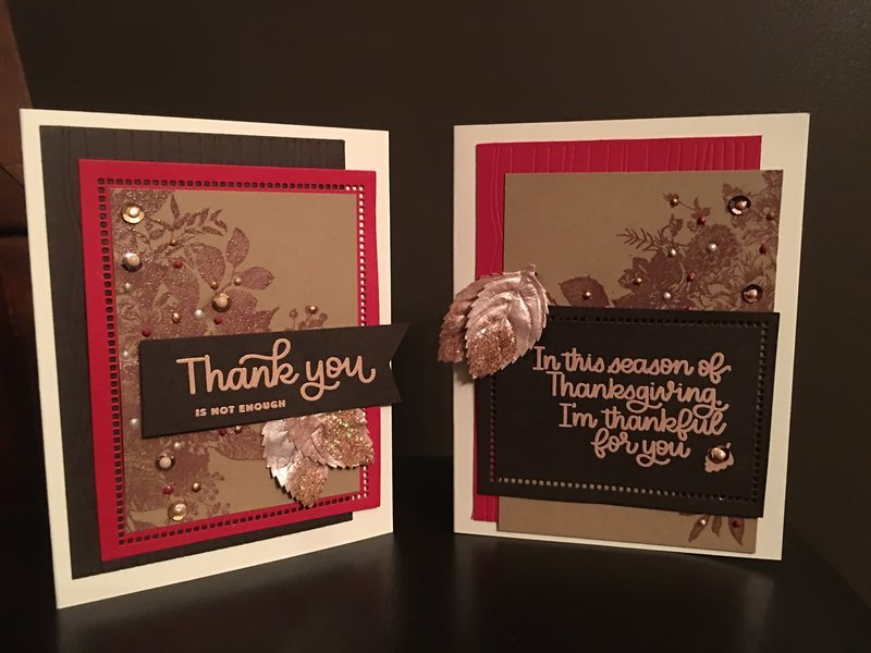 Thanksgiving/ thank you cards