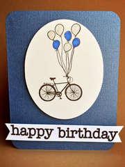 biking birthday card
