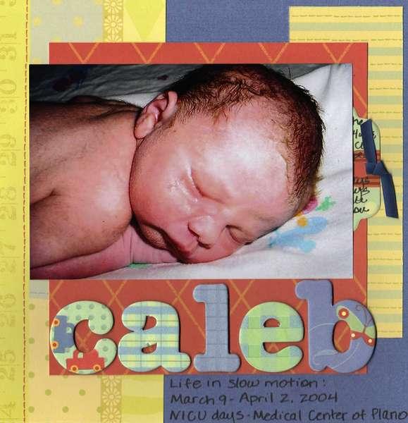 Caleb - NICU mini album