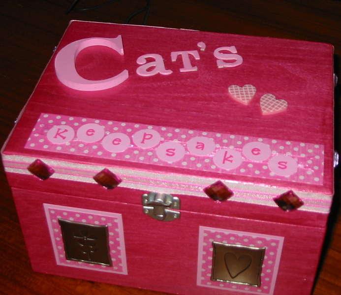 Cat's keepsake box