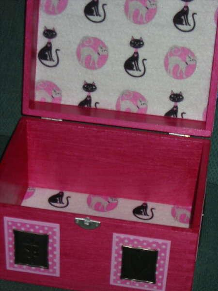 Inside of Cat's keepsake box