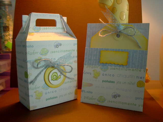 """""""Invitation & Box"""" for a Baby Shower"""
