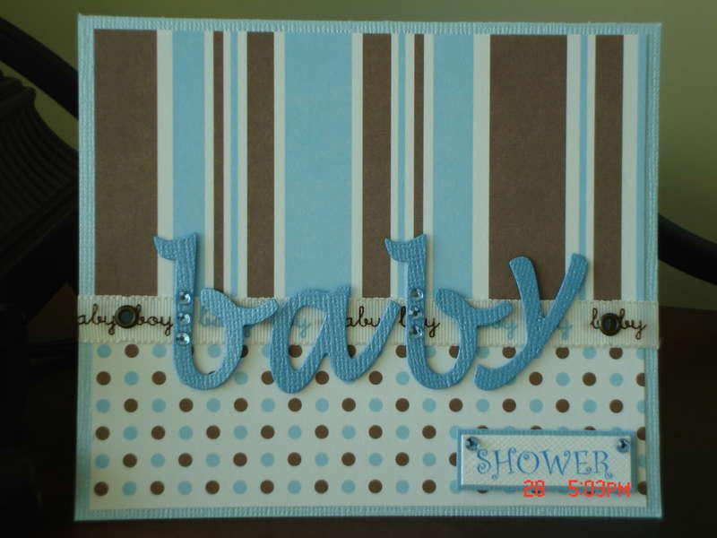 """Baby Shower"" card"