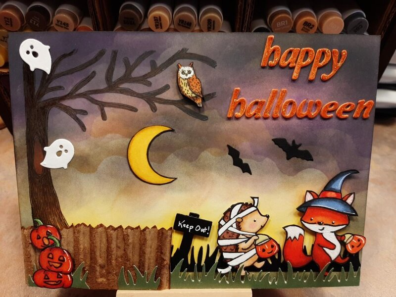 Halloween Forest Critters (1) Boo to you