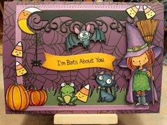 Purple Halloween Witch