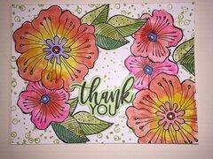 laurel burch blossoms thank you