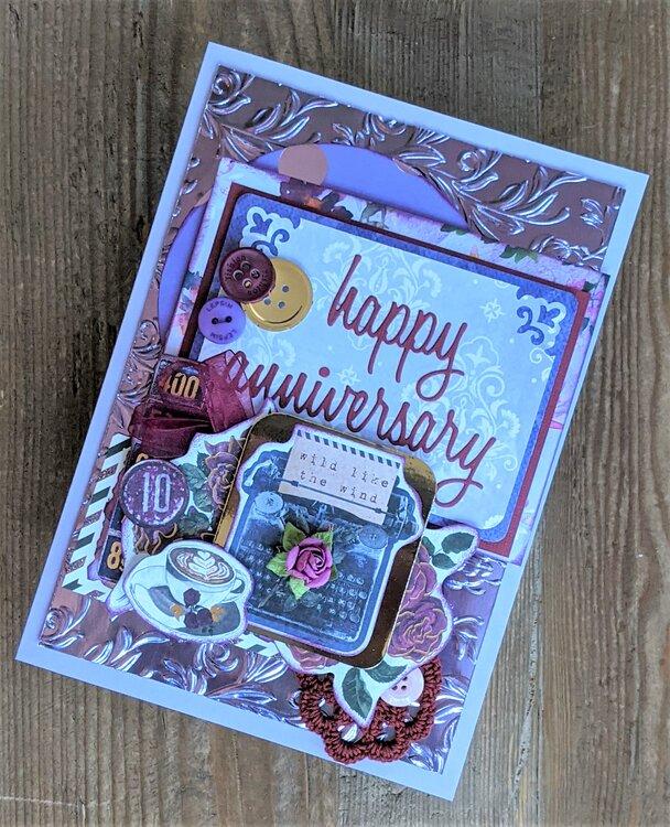 Purple Anniversary Card