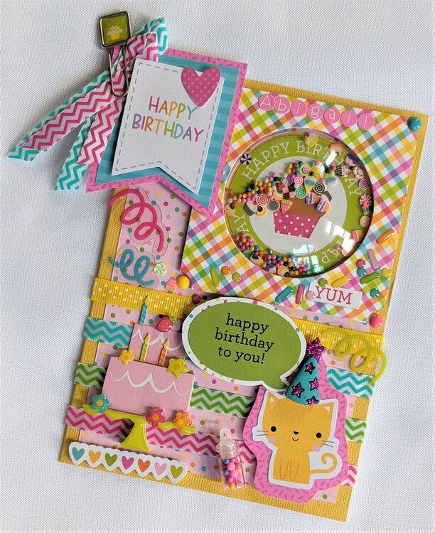 Little girls Birthday card