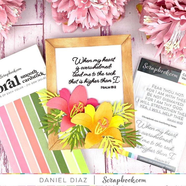 Comforting Verses & Floral Cardstock