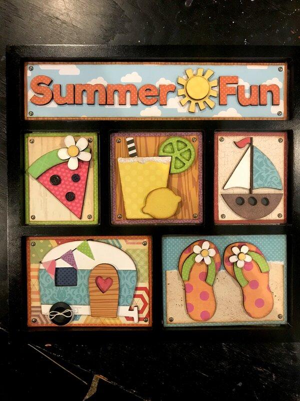 Summer Fun - Foundations Decor Shadowbox