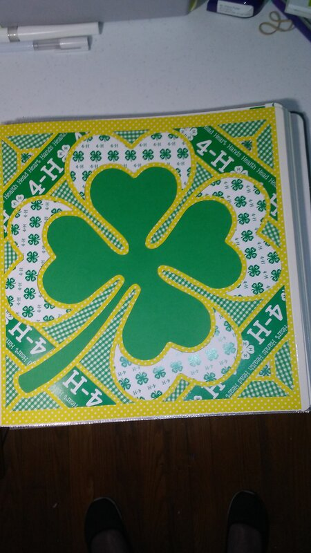 4-H Scrapbook Title page