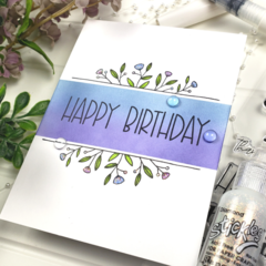Clean and Simple Birthday Card