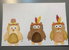 Scrapping Cottage Thanksgiving owls