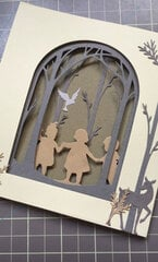Forest Friends Card using Sizzix's Christmas Shadow Box dies