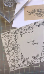 Loving Today Card using different clear acrylic stamp sets