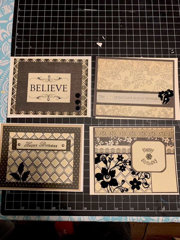 Cards with Velvet paper