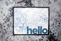 Waves Stencil Card