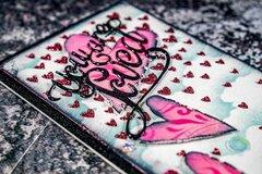 Grunge Valentine Slimline