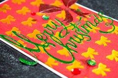 Gold Bows Christmas Card