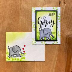 Sunny Studio Savanna Safari Card