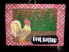 Feel Better Rooster Card