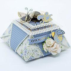 Blue Origami Box