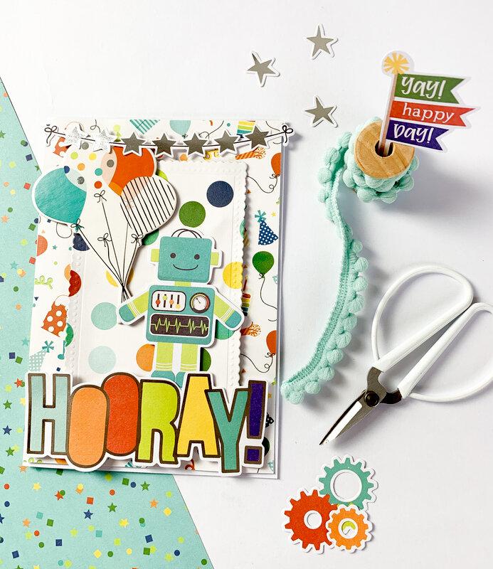 card using Simple Stories - Birthday Blast