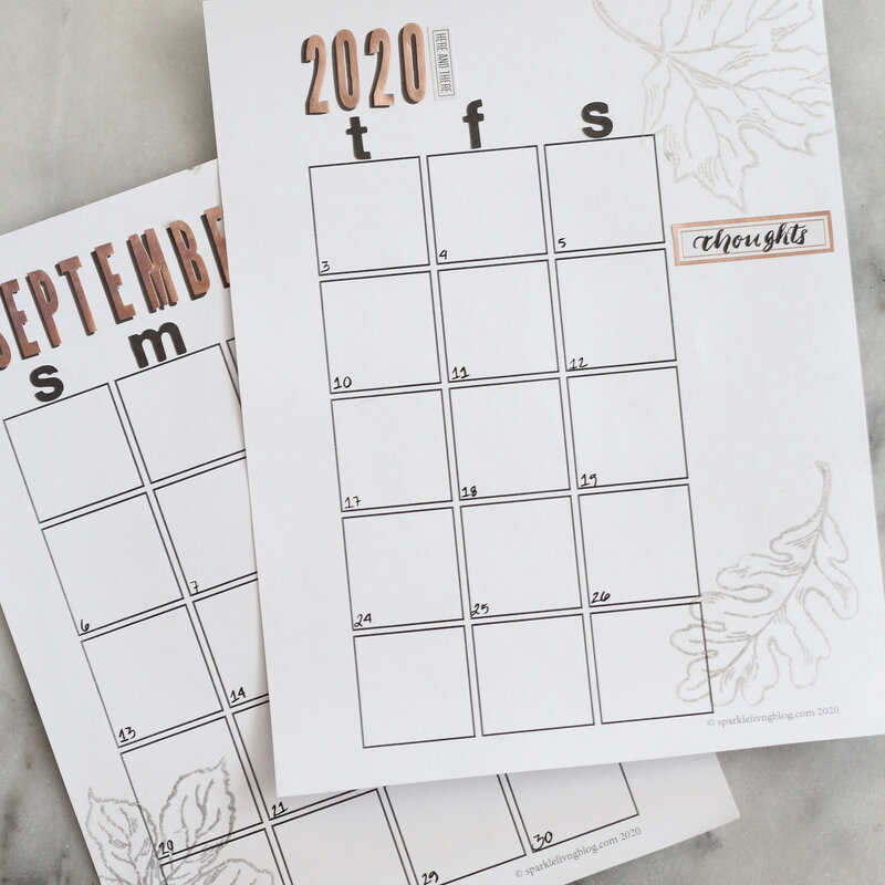 Fall Planner Page