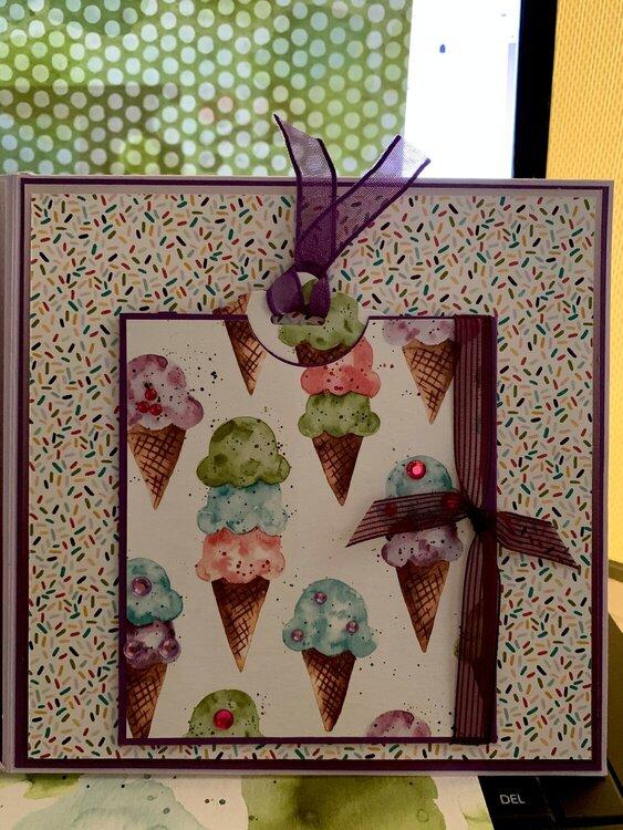 Ice Cream Scrapbook Folio