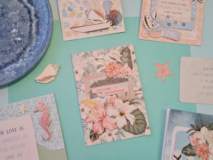 Salt and Sunsets Floral Card