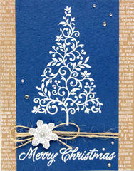 White Embossed Tree