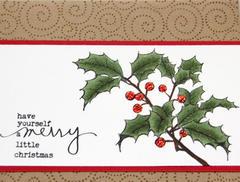 Merry Little Christmas Holly